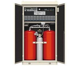 パッケージ型自動消火設備の内部