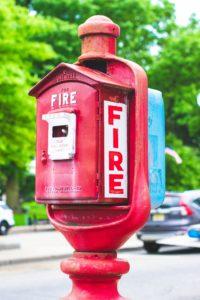 日本では見ない形式の海外の消防用設備等