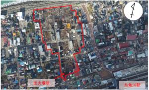 空から見た糸魚川大火災の状況