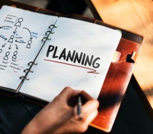 手帳に書かれた「PLANNING」