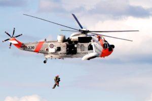 ヘリによる救出活動